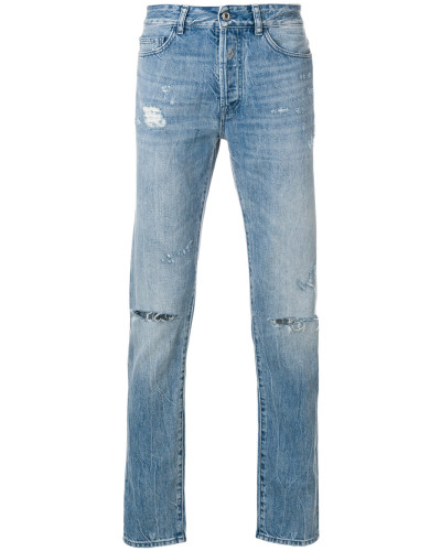 ripped slim-fit jeans
