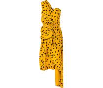 Drapiertes Kleid mit Animal-Print