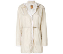 waterproof hooded overcoat
