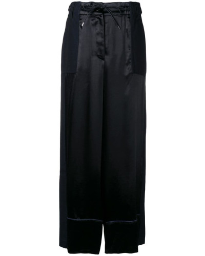 contrast panel palazzo trousers