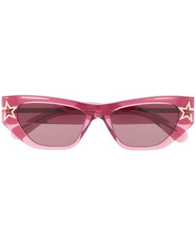 Eckige Sonnenbrille mit Stern