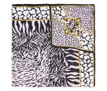 Seidenschal mit Zebra-Print