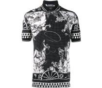 Poloshirt mit Western-Print