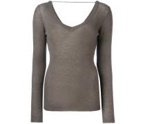 wide neck jumper - women