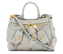 studded patchwork tote