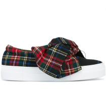Slip-On-Sneakers mit karierter Schleife
