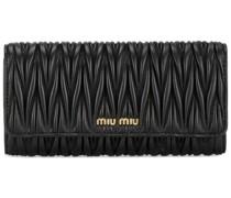 matelassé rectangular wallet