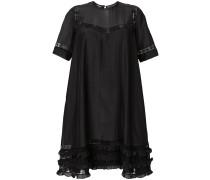 boxy ruffle trim shift dress