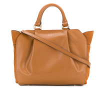soft pleated tote bag