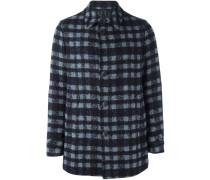 checked short coat