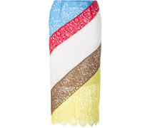 Spitzenrock in Colour-Block-Optik