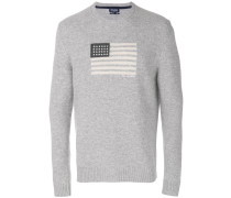 Wollpullover mit US-Flaggenmotiv