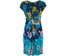 Kleid mit Blumen-Print und Knotendetail