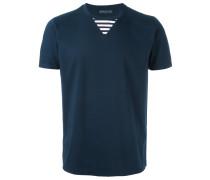 T-Shirt mit gestreiftem Einsatz