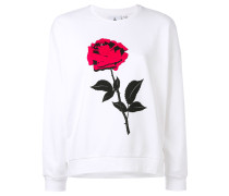 'Radio Club' Sweatshirt mit Rosen-Print - women