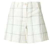 grid checkered print shorts