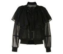 Semi-transparente Jacke mit Rüsche