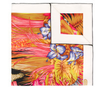 floral and leaf print scarf