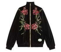 'Chenille' Jacke mit Blumen-Print