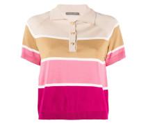 Gestreiftes Cropped-Poloshirt