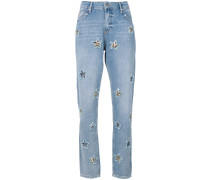 Jeans mit Stern-Patches