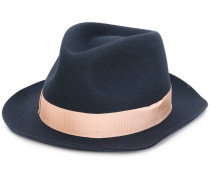 contrast ribbon fedora hat