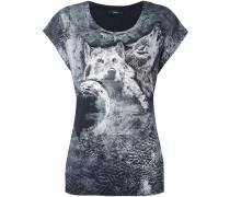 T-Shirt mit Wolf-Print