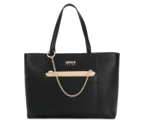chain embellished tote