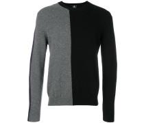 Merino-Pullover in Colour-Block-Optik