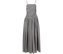 Goose gingham-check print midi dress