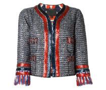 Tweed-Jacke mit Pailletten