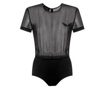 - sheer panels bodysuit - women