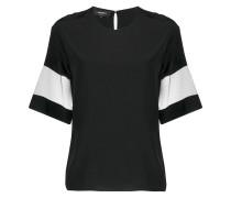 T-Shirt mit transparenten Einsätzen
