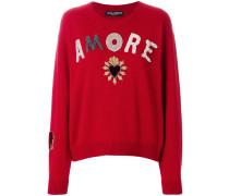 Amore appliqué sweater