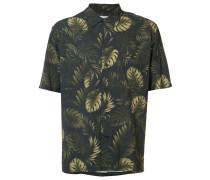 Hemd mit Blätter-Print