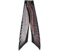 skinny graphic print scarf