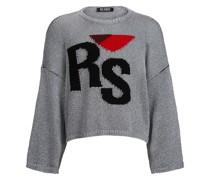 Oversized-Pullover aus Logo-Jacquard