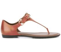 Sandalen mit T-Riemen - women - Leder/rubber