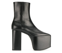 Black Leather Platform 130 boots