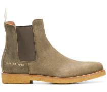 waxed Chelsea boots