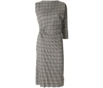 Kariertes Kleid mit gerafften Details