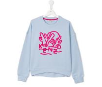 Sweatshirt mit Kaktusstickerei - kids