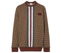 Sweatshirt mit Monogrammstreifen