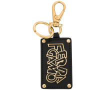 logo plaque keychain