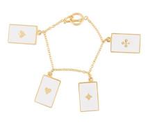 Armband mit Spielkarten-Motiven