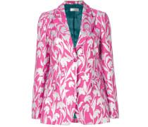 carnation jacquard blazer