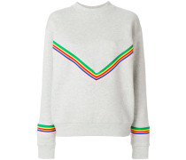 chevron rainbow stripe sweatshirt