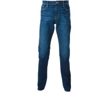 Gerade Jeans im Used-Look