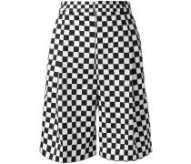 Shorts mit Schachbrettmuster