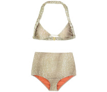 velvet hot pants bikini set